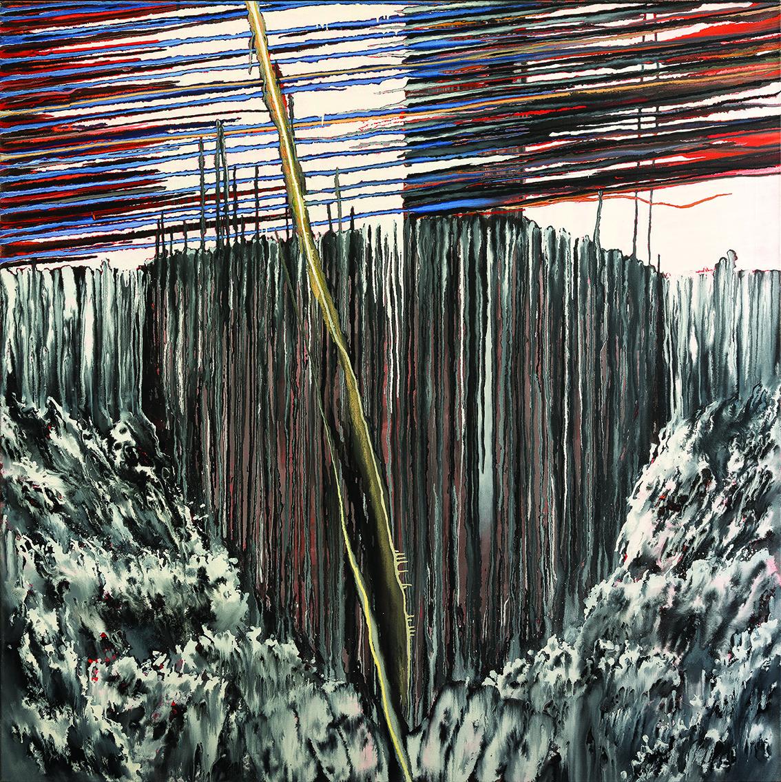 """<p><span style=""""font-size: 10pt;"""">Philippe Graitson, <em>François Ier</em>, acrylique sur toile, s.d., 160 x 160 cm ©Caroline Dethier</span></p>"""