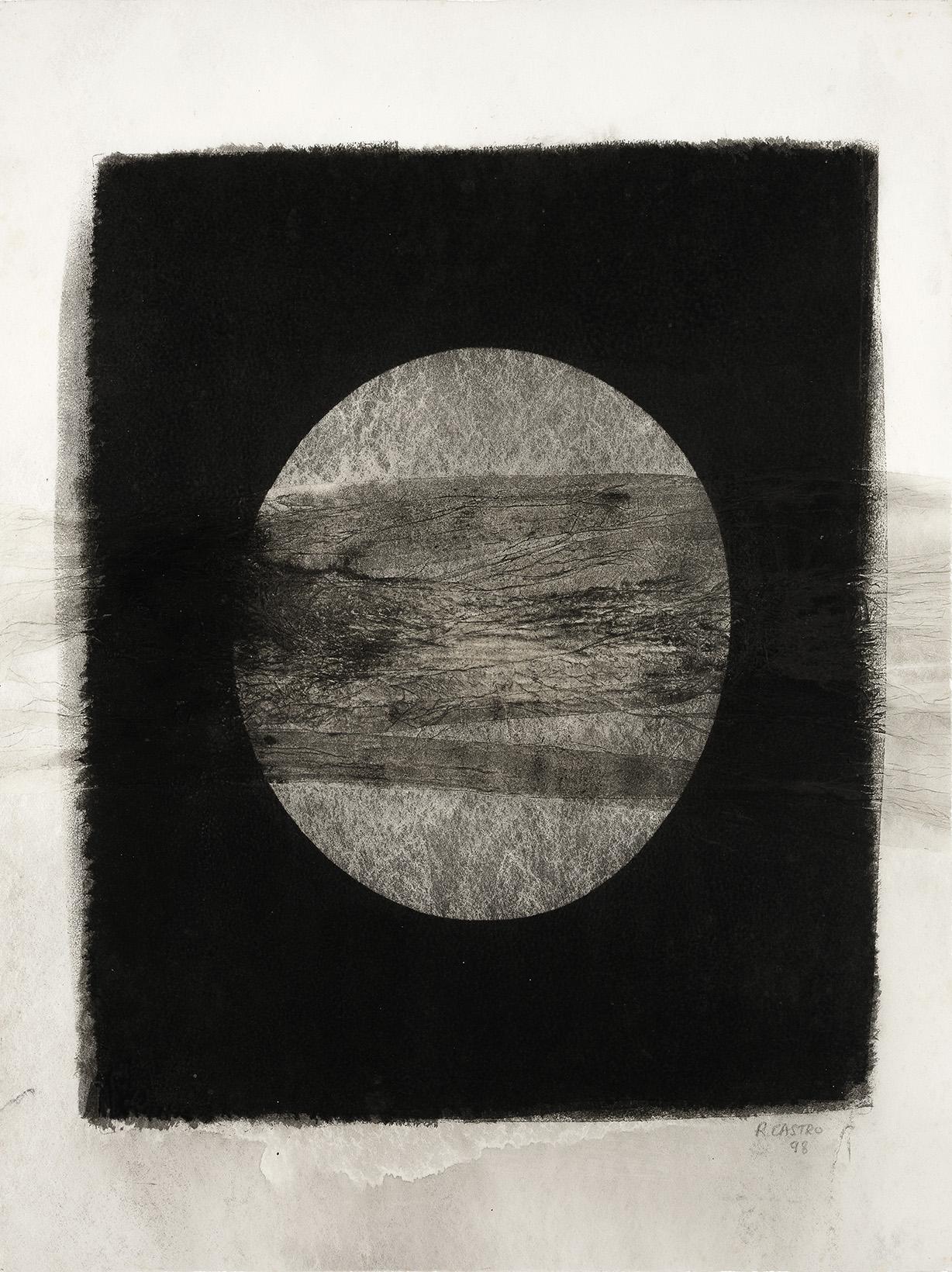 """<p><span style=""""font-size: 10pt;"""">Roland Castro, sans titre, gomme bichromatée sur papier japon collé sur intissé, 1998, 65 x 47,5 cm ©Caroline Dethier</span></p>"""